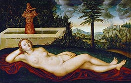 Reclining Water Nymph, undated von Lucas Cranach | Gemälde-Reproduktion