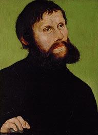 Martin Luther als Junker Jörg, c.1521/22 von Lucas Cranach   Gemälde-Reproduktion