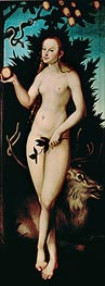 Eve, 1533 by Lucas Cranach | Painting Reproduction