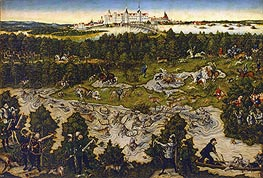 Hunt in Honour of Carlos V at the Castle of Torgau | Lucas Cranach | Gemälde Reproduktion