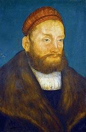 Markgraf Casimir von Brandenburg - Kulmbach, 1522 von Lucas Cranach   Gemälde-Reproduktion