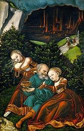 Lot und seine Töchter, 1528 von Lucas Cranach   Gemälde-Reproduktion