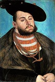 Portrait of John Frederick the Magnanimous Elector of Ernestine of Saxony | Lucas Cranach | Gemälde Reproduktion