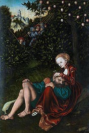 Samson and Delilah, undated by Lucas Cranach | Painting Reproduction