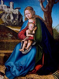 Virgin and Child, c.151314 von Lucas Cranach | Gemälde-Reproduktion