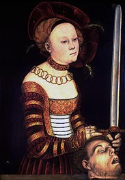 Judith with the Head of Holofernes, c.1537/40 von Lucas Cranach | Gemälde-Reproduktion