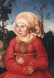 Wife of Dr. Johann Reuss | Lucas Cranach | Gemälde Reproduktion