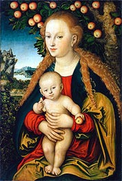 The Virgin and Child under an Apple Tree, c.1520/26 von Lucas Cranach | Gemälde-Reproduktion