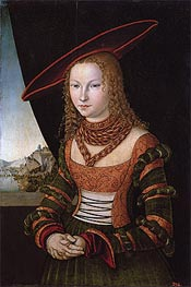 Portrait of a Woman, 1526 von Lucas Cranach | Gemälde-Reproduktion