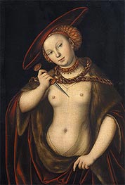 Lucretia, undated by Lucas Cranach | Painting Reproduction