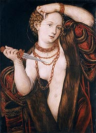 Lucretia, a.1537 by Lucas Cranach | Painting Reproduction