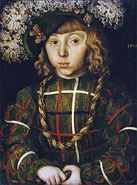 Portrait of Johann Friedrich the Magnanimous, 1509 by Lucas Cranach | Painting Reproduction
