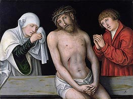 Christ as the Man of Sorrows with the Virgin and St. John, undated by Lucas Cranach | Painting Reproduction