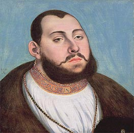Portrait of John Frederic the Magnanimous Elector of Saxony, 1533 by Lucas Cranach | Painting Reproduction