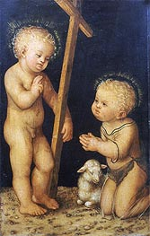 The Christ Child Blessing the Infant St. John the Baptist, undated by Lucas Cranach | Painting Reproduction