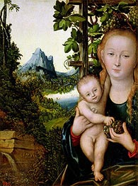Virgin and Child, c.1520 by Lucas Cranach | Painting Reproduction