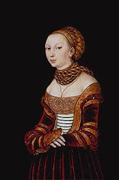 Portrait of a Young Woman, 1525 by Lucas Cranach | Painting Reproduction