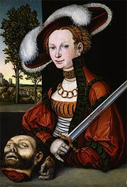 Judith with the Head of Holofernes, 1530 by Lucas Cranach | Painting Reproduction