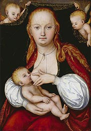 The Virgin and Child | Lucas Cranach | Gemälde Reproduktion