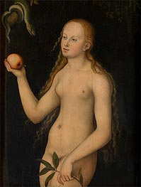 Eve, undated by Lucas Cranach | Painting Reproduction
