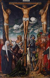 The Crucifixion, undated by Lucas Cranach | Painting Reproduction