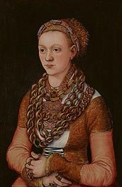 Portrait of Anna Buchner, c.1518/20 by Lucas Cranach | Painting Reproduction