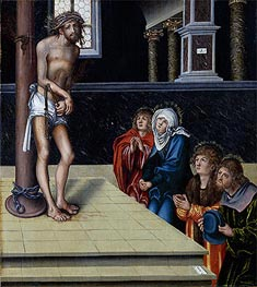 Christ at the Column, 1515 by Lucas Cranach | Painting Reproduction