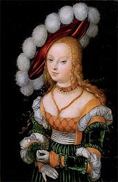 Portrait of Young Girl, c.1525/30 by Lucas Cranach | Painting Reproduction
