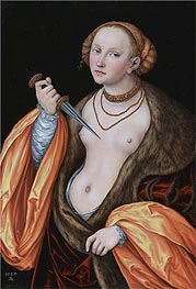Lucretia, 1537 by Lucas Cranach | Painting Reproduction