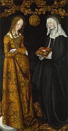 Saints Christina and Ottilia (The St Catherine Altarpiece) | Lucas Cranach | Gemälde Reproduktion