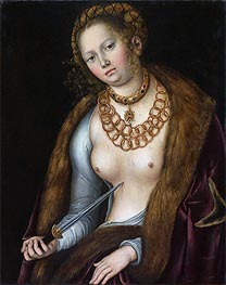 Lucretia, c.1510/13 by Lucas Cranach | Painting Reproduction