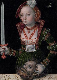 Judith and Holofernes, undated by Lucas Cranach | Painting Reproduction