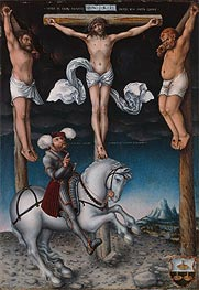 The Crucifixion with the Converted Centurion, 1538 by Lucas Cranach | Painting Reproduction