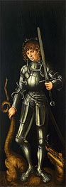 Saint George, c.1514 by Lucas Cranach | Painting Reproduction