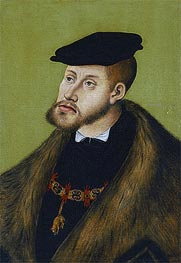 Emperor Charles V, 1533 by Lucas Cranach | Painting Reproduction