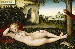 The Nymph of the Spring, 1537 by Lucas Cranach | Painting Reproduction