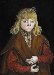 A Prince of Saxony, c.1517 by Lucas Cranach | Painting Reproduction