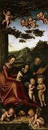 The Holy Family Surrounded by Angels, c.1510/15 by Lucas Cranach | Painting Reproduction