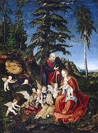 Rest on the Flight into Egypt | Lucas Cranach | Gemälde Reproduktion