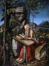 St Jerome in a Rocky Landscape | Lucas Cranach | Gemälde Reproduktion