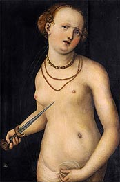 The Suicide of Lucretia, a.1537 by Lucas Cranach | Painting Reproduction