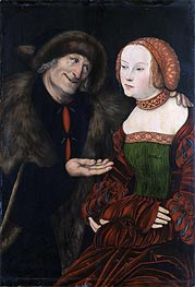 An Ill-Matched Couple | Lucas Cranach | Gemälde Reproduktion