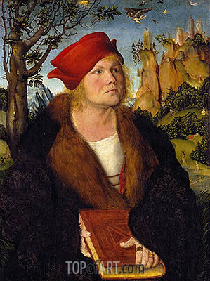 Portrait of Dr. Johannes Cuspinian, c.1502/03 | Lucas Cranach| Painting Reproduction