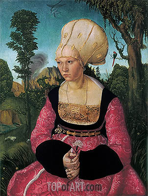 Anna Putsch, First Wife of Dr. Johannes Cuspinian, c.1502/03 | Lucas Cranach| Painting Reproduction