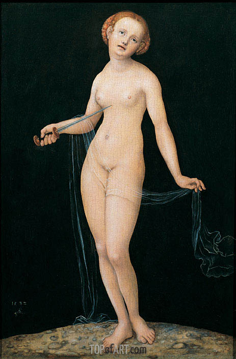 Lucretia, 1532 | Lucas Cranach| Painting Reproduction