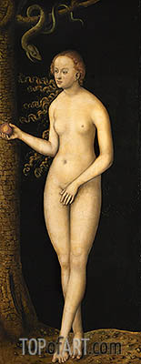 Eve, 1537 | Lucas Cranach| Painting Reproduction