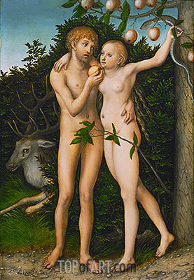 The Fall, a.1537 | Lucas Cranach| Painting Reproduction