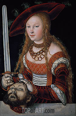 Judith with the Head of Holofernes, c.1530 | Lucas Cranach | Painting Reproduction