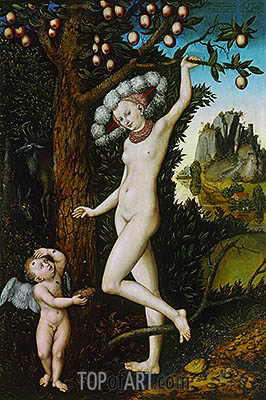 Cupid Complaining to Venus, c.1525 | Lucas Cranach| Painting Reproduction