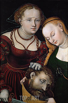 Lucas Cranach | Judith with the Head of Holofernes and a Servant, c.1537